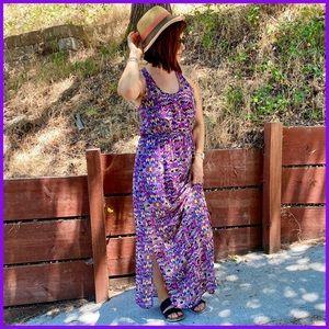Francesca's Southwestern Geometric Maxi Dress L